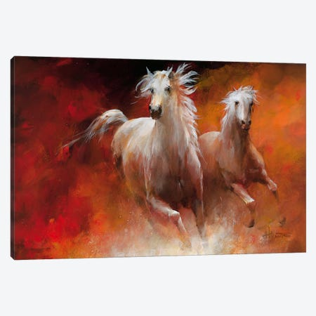 Wild Horses II Canvas Print #HAE84} by Willem Haenraets Canvas Print