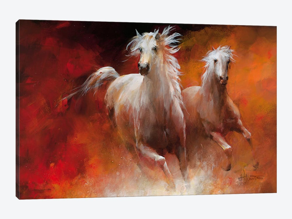 Wild Horses II by Willem Haenraets 1-piece Canvas Art