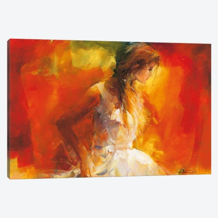 Young Girl I Canvas Print #HAE85} by Willem Haenraets Canvas Print
