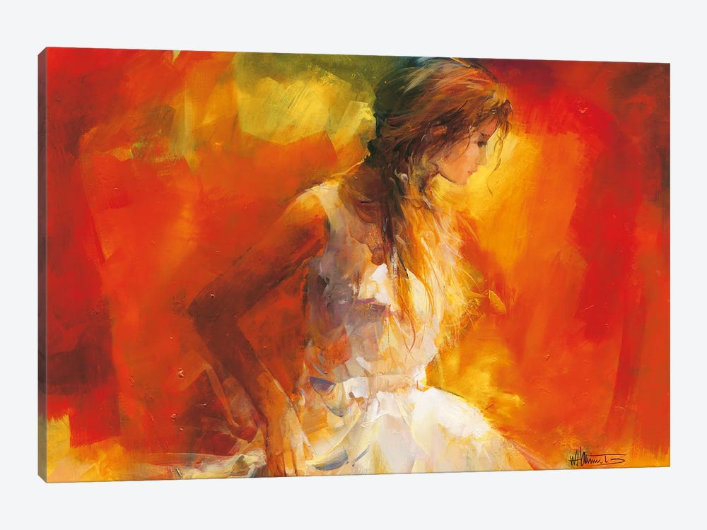 Young Girl I by Willem Haenraets 1-piece Canvas Print