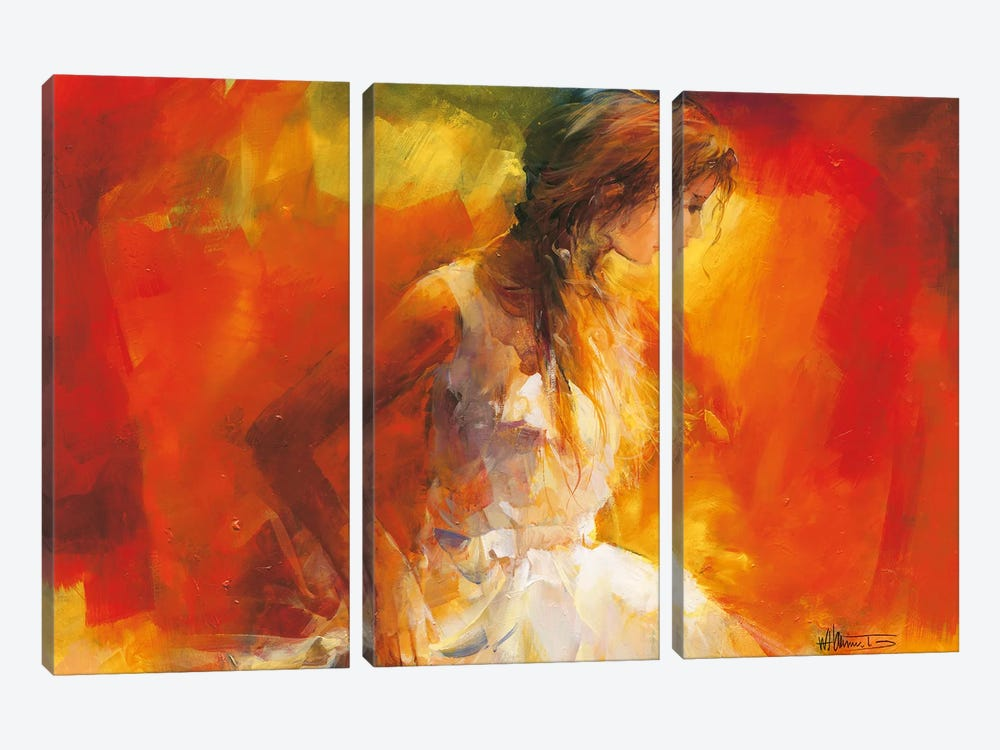 Young Girl I by Willem Haenraets 3-piece Canvas Art Print