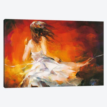 Young Girl II Canvas Print #HAE86} by Willem Haenraets Art Print