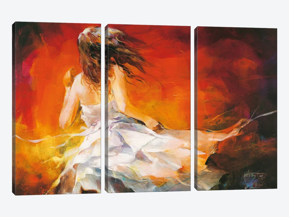 Young Girl II by Willem Haenraets 3-piece Canvas Artwork