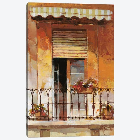 Balcony II Canvas Print #HAE8} by Willem Haenraets Canvas Art