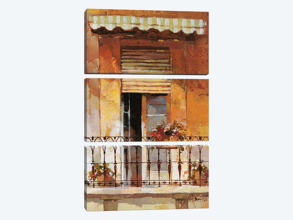 Balcony II by Willem Haenraets 3-piece Canvas Artwork
