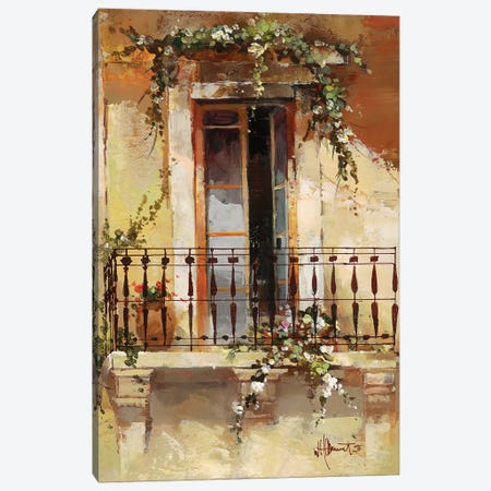 Balcony III Canvas Print #HAE9} by Willem Haenraets Canvas Wall Art