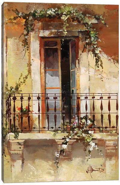 Balcony III Canvas Art Print