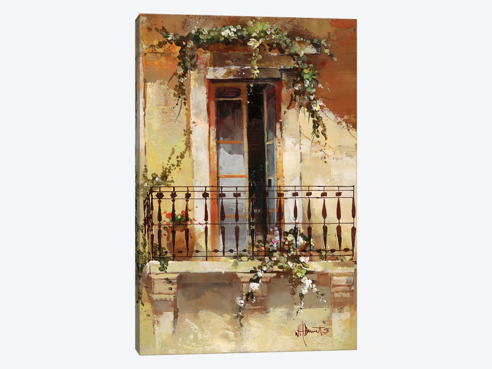 Balcony III by Willem Haenraets 1-piece Canvas Art Print