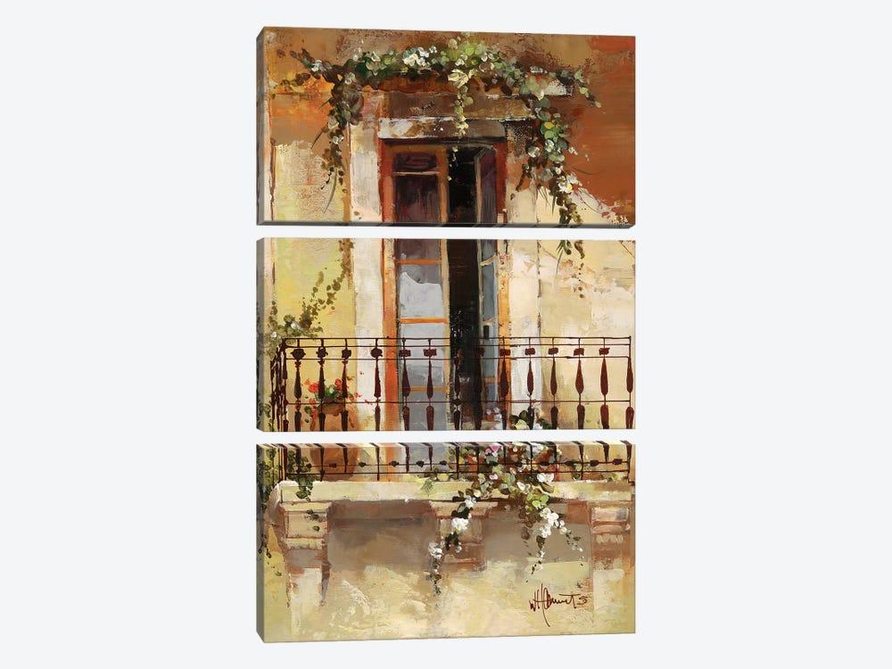 Balcony III by Willem Haenraets 3-piece Art Print