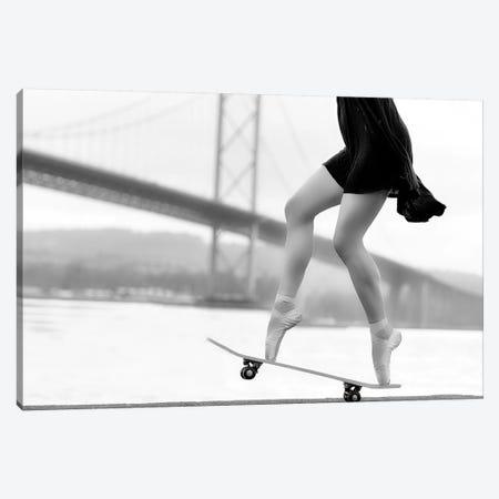 Skater Girl Canvas Print #HAJ4} by Howard Ashton-Jones Canvas Wall Art