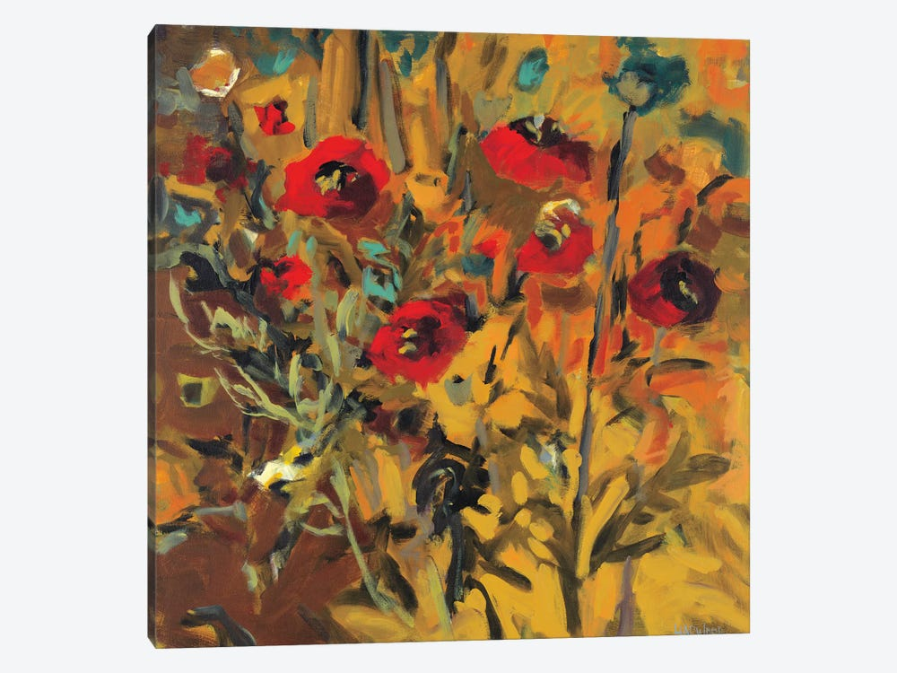 Wild Poppies by Jennifer Harwood 1-piece Canvas Artwork