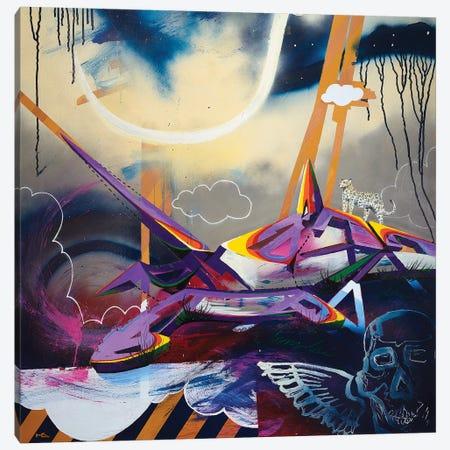 Last Setting Canvas Print #HAS12} by Harry Salmi Art Print