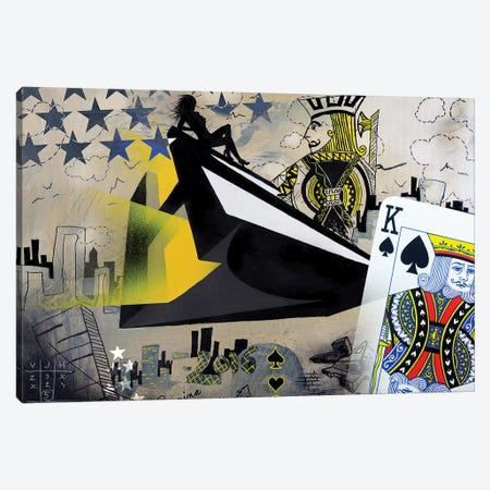 Spades Canvas Print #HAS16} by Harry Salmi Canvas Wall Art