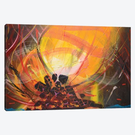 Bonfire Canvas Print #HAS1} by Harry Salmi Canvas Art Print