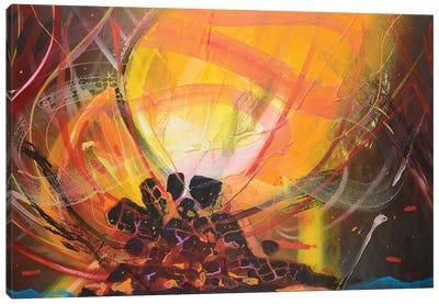 Bonfire Canvas Art Print