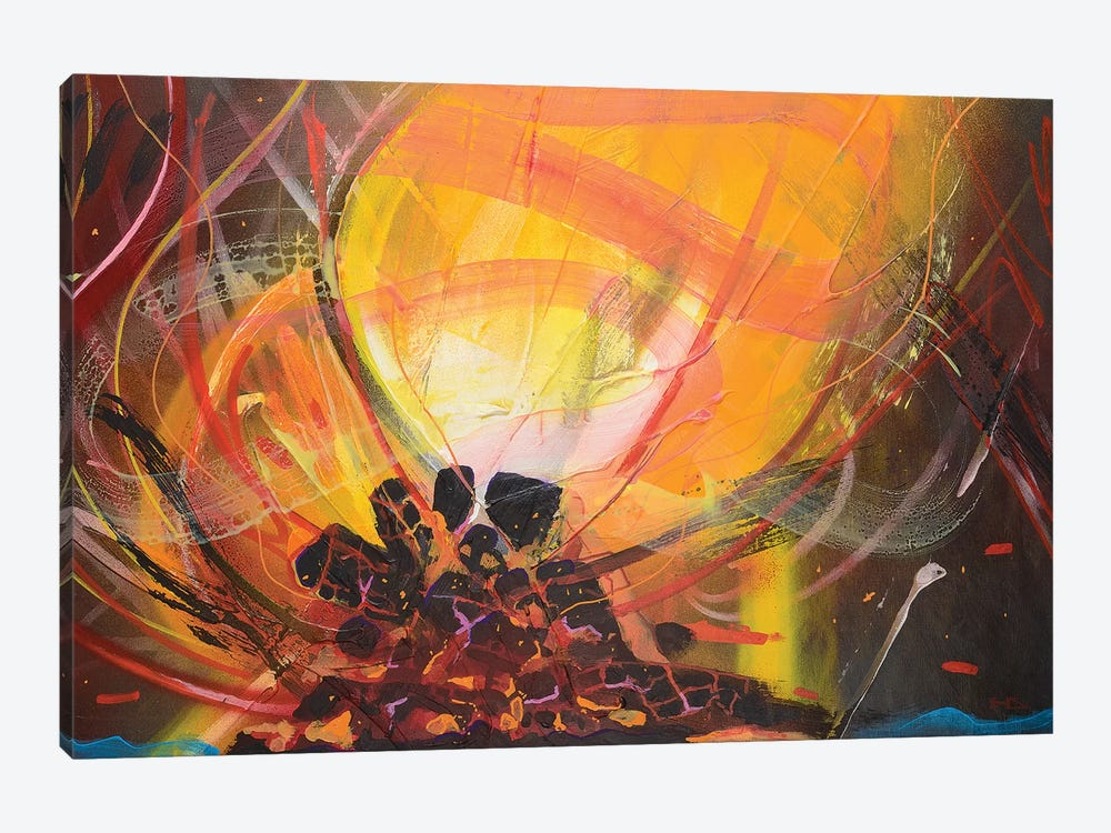 Bonfire by Harry Salmi 1-piece Canvas Art Print
