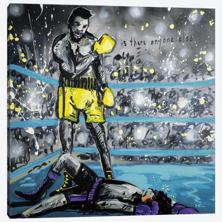 What A Fight Canvas Print #HAS24} by Harry Salmi Canvas Print