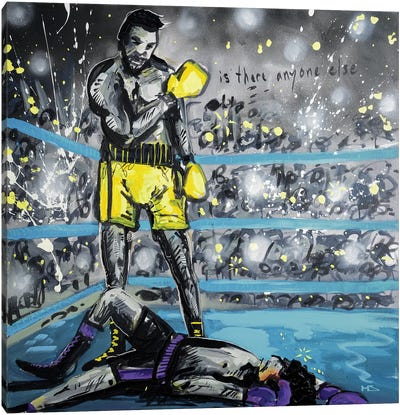 What A Fight Canvas Art Print