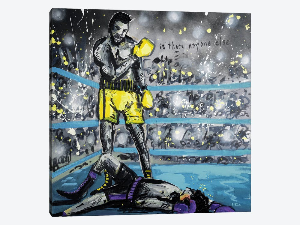 What A Fight by Harry Salmi 1-piece Canvas Print
