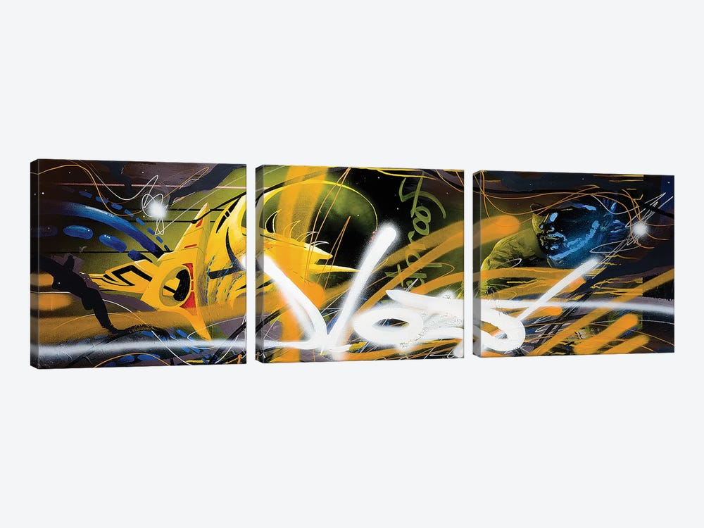 Bulletproof by Harry Salmi 3-piece Canvas Wall Art