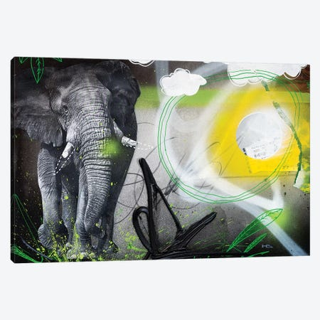 Power Animal Canvas Print #HAS32} by Harry Salmi Art Print