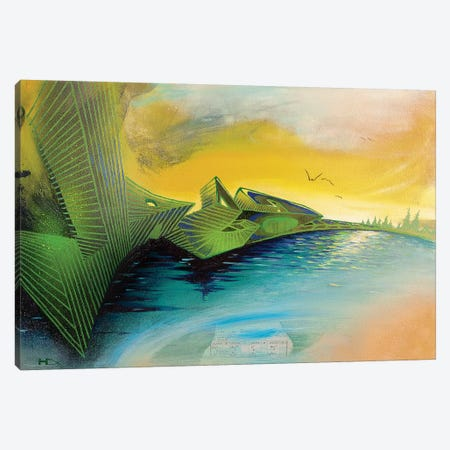 Dawn Canvas Print #HAS5} by Harry Salmi Canvas Artwork