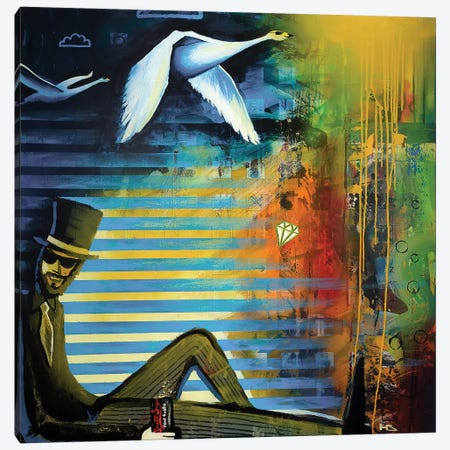 Dazzle Canvas Print #HAS6} by Harry Salmi Canvas Artwork