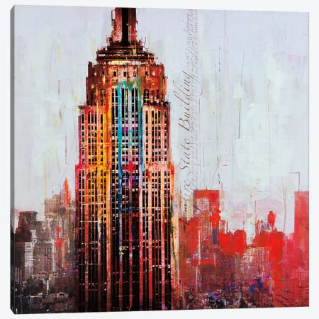 The City That Never Sleeps I Canvas Print #HAU5} by Markus Haub Canvas Wall Art