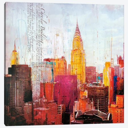 The City That Never Sleeps II Canvas Print #HAU6} by Markus Haub Canvas Wall Art