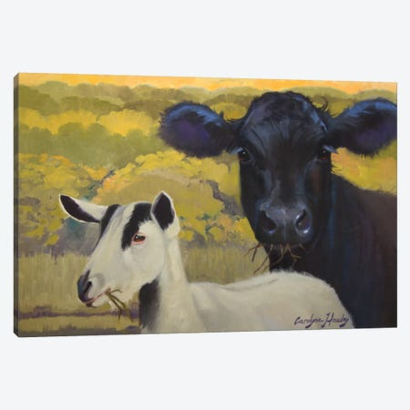 Farm Pals IV Canvas Print #HAW10} by Carolyne Hawley Canvas Art Print