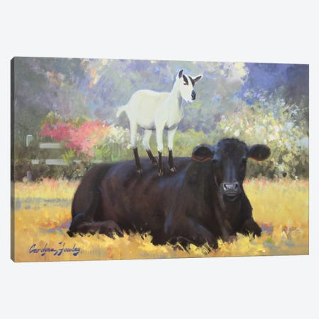 Farm Pals V Canvas Print #HAW11} by Carolyne Hawley Canvas Print