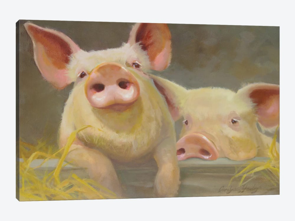 Life As A Pig II by Carolyne Hawley 1-piece Canvas Artwork
