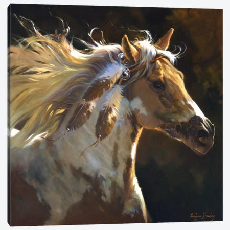 Spirit Horse Canvas Print #HAW3} by Carolyne Hawley Canvas Art Print