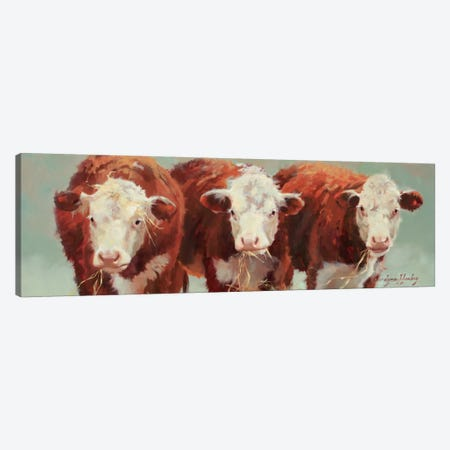 Three Of A Kind Canvas Print #HAW5} by Carolyne Hawley Canvas Art
