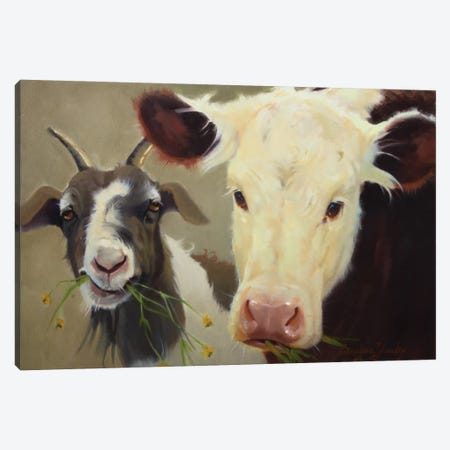 Farm Pals I Canvas Print #HAW7} by Carolyne Hawley Canvas Art