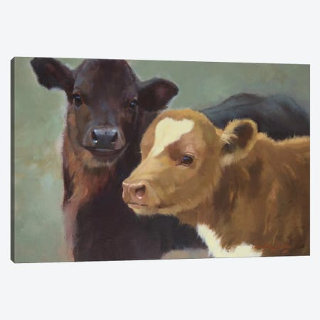 Farm Pals II Canvas Print #HAW8} by Carolyne Hawley Canvas Print