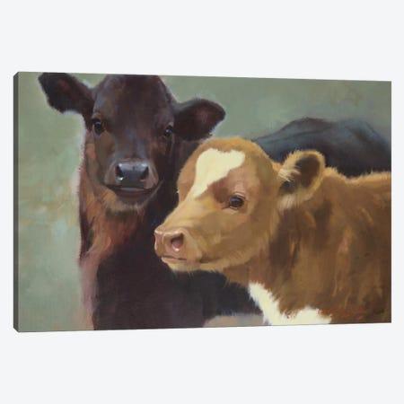 Farm Pals II Canvas Print #HAW8} by Carolyne Hawley Canvas Print