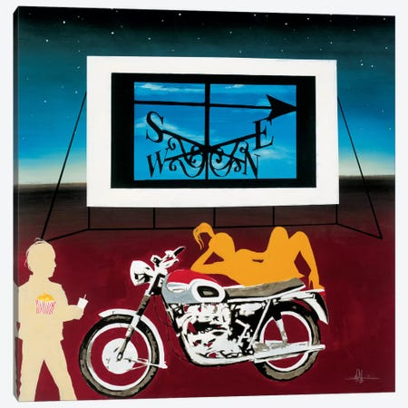 Watching Where We're Going Canvas Print #HAX17} by KC Haxton Canvas Art Print