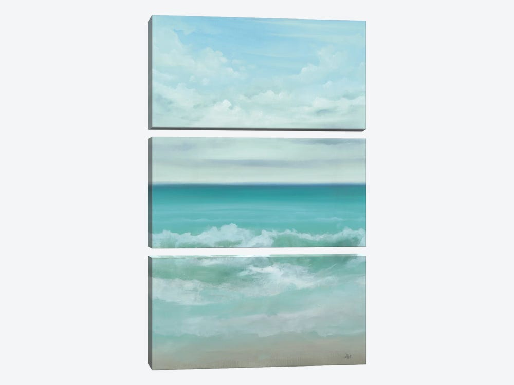 Aqua Marine by KC Haxton 3-piece Canvas Artwork