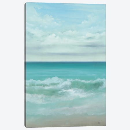 Aqua Marine Canvas Print #HAX1} by KC Haxton Canvas Art