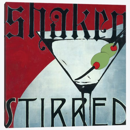 Shaken Stirred Canvas Print #HAX21} by KC Haxton Canvas Art Print