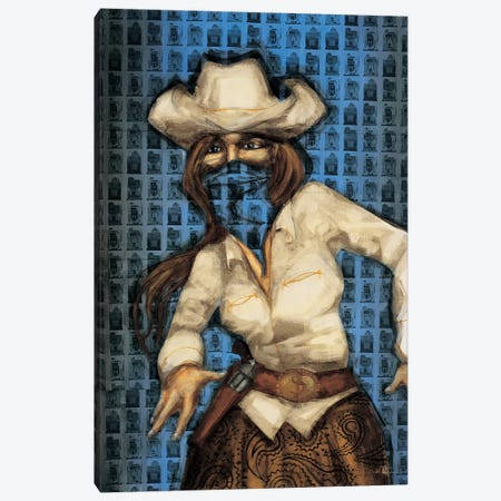 Bandita Canvas Print #HAX24} by KC Haxton Canvas Wall Art