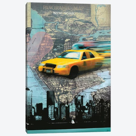 I Love NY Canvas Print #HAX25} by KC Haxton Canvas Artwork