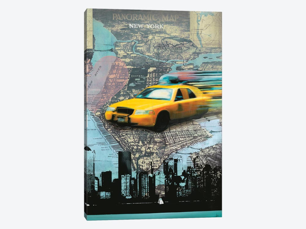 I Love NY by KC Haxton 1-piece Canvas Art Print