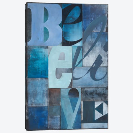 Believe 3-Piece Canvas #HAX2} by KC Haxton Canvas Wall Art
