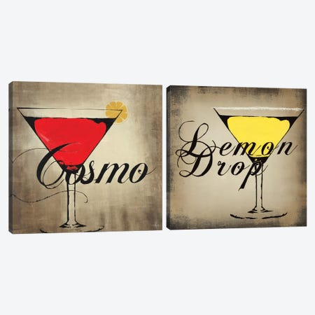 Lemon Drop Diptych Canvas Print Set #HAX2HSET001} by KC Haxton Canvas Art Print