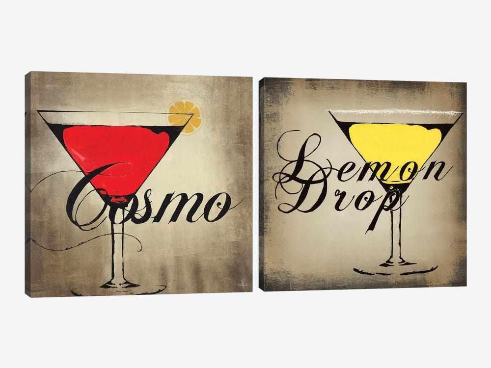 Lemon Drop Diptych by KC Haxton 2-piece Canvas Artwork