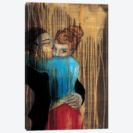 Punch Drunk Love Canvas Print #HAX30} by KC Haxton Canvas Wall Art
