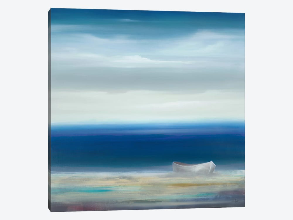Boat On Shore by KC Haxton 1-piece Canvas Artwork