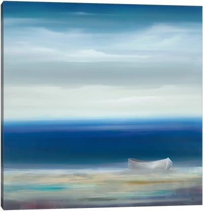 Boat On Shore Canvas Art Print